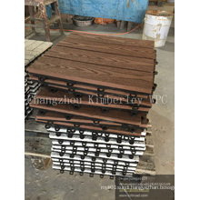 WPC Interlocking Solid Decking Tile