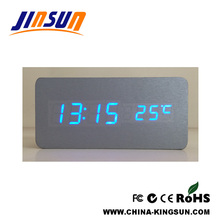 Silver Color Led Alarm Clock Desktop Model Fresh