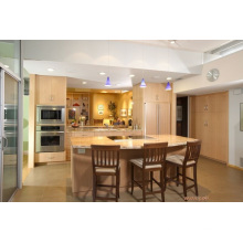 Insel-Art-modernes hölzernes Küche-Kabinett