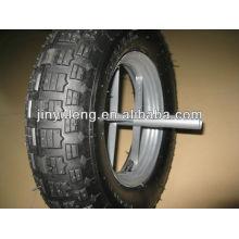 4.00-8 block pattern wheel barrow tyre for hand trolley