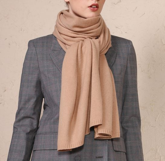80% Wool 20% Cashmere Knitted Scarf -6