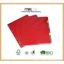 160GSM A4 Размер Цветной указатель бумаги Вкладка File Divider