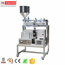 manual cosmetic tubes filling and sealing machines