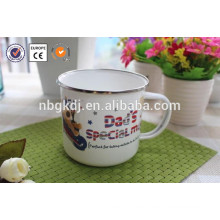 enamel mug with shiny decals