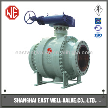 Trunnion ball valve gearbox