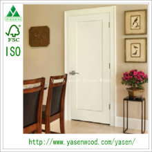 Factory Flat Shaker Panel Style White Wood Door