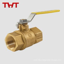 "Hot water threaded connection 1/2"" brass ball valve"