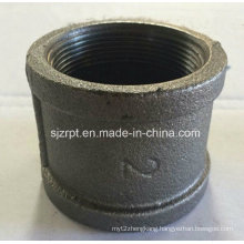 """2"""" Banded Black Coupling Malleable Iron Pipe Fitting"""