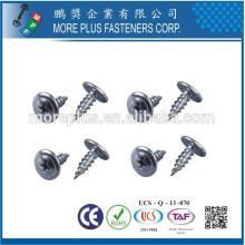 Fabricante em Taiwan M2.5X8mm Truss Phillip Washer Head Self Tapping Screws