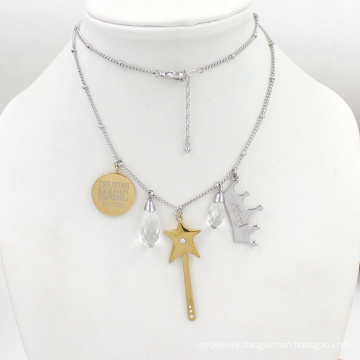 Silver Gold fashion Pendant Stainless Jewelry Necklace