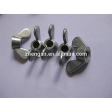 Tuerca de mariposa galvanizada / revestida de zinc DIN 315