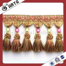 China Elegant Crochet Curtain Tassel Fringe Tassel Trimming Portable Curtain Stand