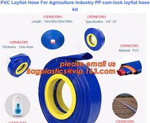 PVC Layflat Hose For Agriculture Industry PP cam-lock layflat hose kit