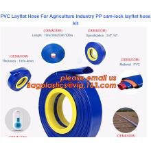 PVC Layflat Hose For Agriculture Industry PP cam-lock layflat hose kit