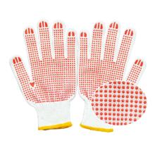 10 gauge knitted gloves cotton orange  white red  cotton hand working glove