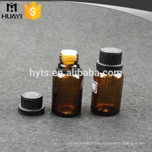 Янтарная стеклянная бутылка 20ml капельницы для эфирного масла с крышкой доказательства ребенка