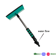 professional window and garage floor cleaning squeegee with water fed pole