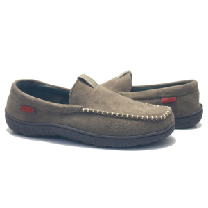 Loafer men moccasin no lace casual suede shoes
