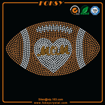Football Mom iron on bling appliques
