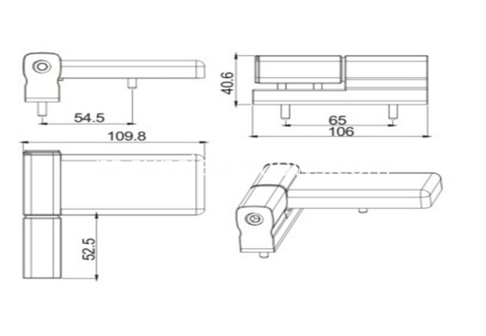 Concealed Hinge, Aluminium Door Hinge,Furniture Hinge Drawing