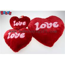 Plush Stuffed vermelho coração forma almofada suave travesseiro brinquedo como presente do Dia dos Namorados