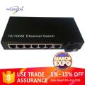 10/100M 7ethernet ports fiber optical media converter