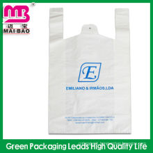 Clear Frosted High Density Poly Tote Bags with Handles