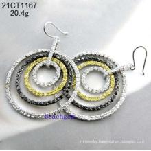 Silver Jewelry-Cubic Zirconia Earrings (21CT1167)