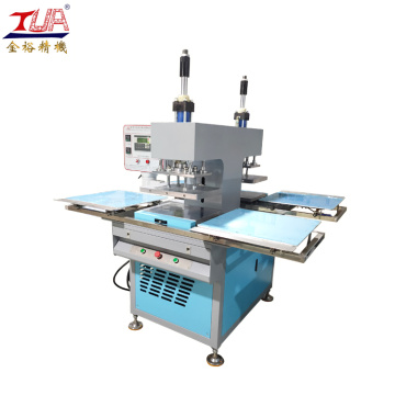 Dual tray microcomputer plc control cloth embossing machine