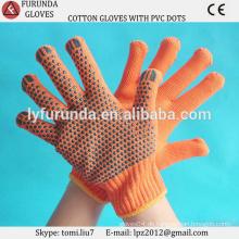 Großhandel gestrickte Baumwollhandschuhe, PVC gepunktete Baumwollhandschuhe