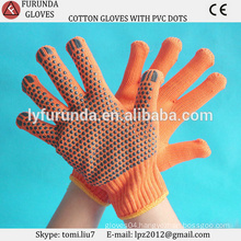 Wholesale Knitted cotton gloves, PVC dotted cotton gloves