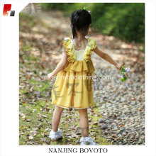 WD wolf remake yellow chiffon embroidered dress