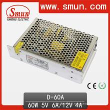 60W 5V12V saída dupla comutação de alimentação (D-60A 5V12V)