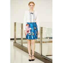 MID Талия Карандаш юбка с цветами и бабочкой Печать
