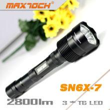 Maxtoch SN6X-7 LED Cree tática recarregável T6 3 * Cree Xm-l tocha