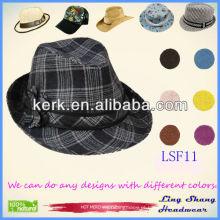 O chapéu o mais novo de Fedora do tecido das mulheres elegantes da flor 2013, LSF11