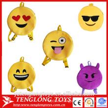 Mochilas de emoji de la felpa de la fábrica barata divertida para los cabritos
