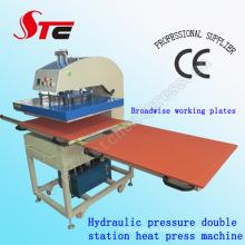 Prensa de calor Máquina de transferencia Máquina de transferencia de calor de presión de aceite Máquina doble Estación de transferencia de calor de presión hidráulica Stc-Yy01
