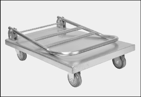 Foldable stainless steel trolley