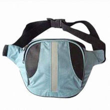 Sports Waist Bag with one main zipper compartment and adjustable waist belt