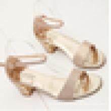 Best quality Giltter material women sandal shoe