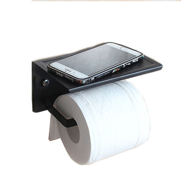 2021 Black Hanging Toilet Paper Holder With Shelf Roll Paper Holder