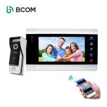 """Fast Shipping AHD 7"""" TFT LCD monitor ding dong bell door video 4 wire intercom system with MP4 Playing function"""