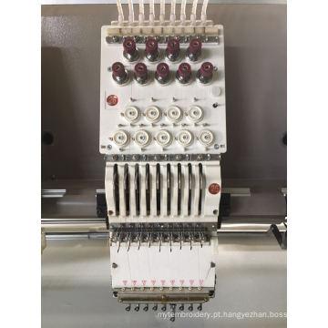 Máquina de bordar plana de 30 cabeças de 9 cores
