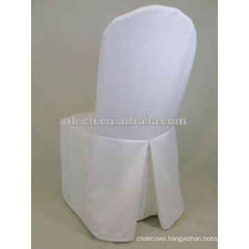 White polyester banquet chair cover for wedding