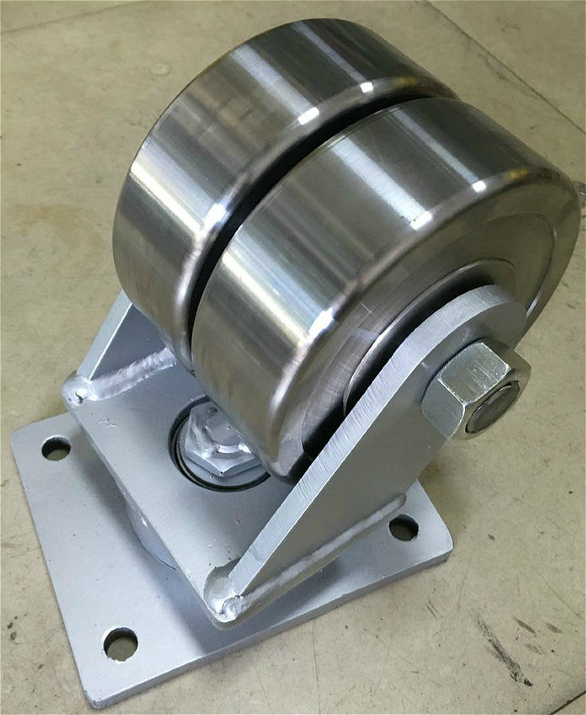 Super Heavy Duty Forged Steel Swivel Twin Wheel Caster