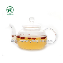 Clear Single Wall Glass Teapot by SGS (600ML)