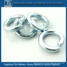 Arandelas de resorte plateadas cinc azules blancas de acero C1070