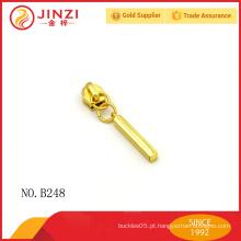 Fancy ouro bolsa zipper puxa
