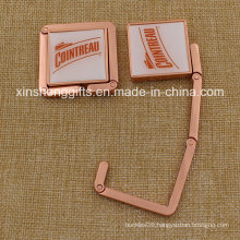 Custom Metal Table Top Square Shape Bag Hanger for Ladies